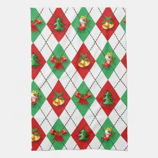 Christmas Argyle Kitchen Towel