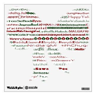 Christmas Around The World Bow Decal