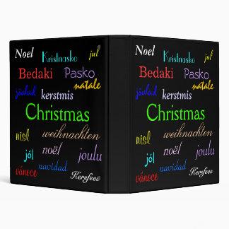 Christmas Around The World In Black 3 Ring Binders