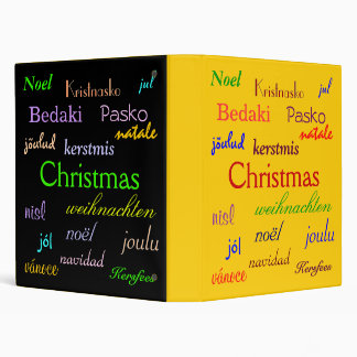 Christmas Around The World In Gold And Black Binder