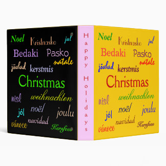 Christmas Around The World In Gold And Black II Binders