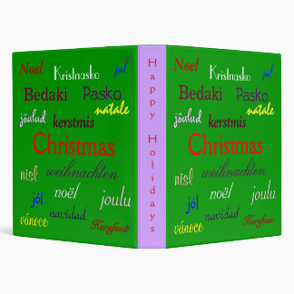 Christmas Around The World In Green III Binder