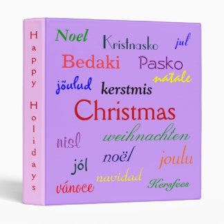 Christmas Around The World In Purple And Green II Vinyl Binders