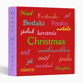 Christmas Around The World In Red And Gold III Vinyl Binders
