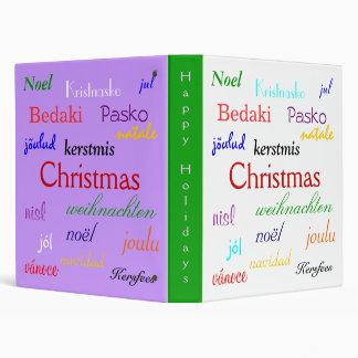 Christmas Around The World In White And Purple VI Binders