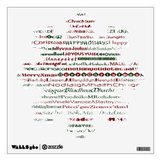 Christmas Around The World Snowflake Decal