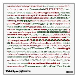 Christmas Around The World Wall Decal