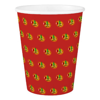Christmas arrangement paper cup