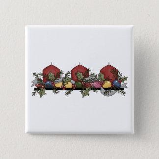 Christmas Arrangements · Advent Wreath 2 Inch Square Button