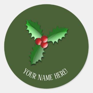 Christmas arrangements classic round sticker