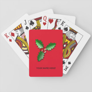 Christmas arrangements playing cards