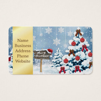 Christmas art - christmas illustrations business card