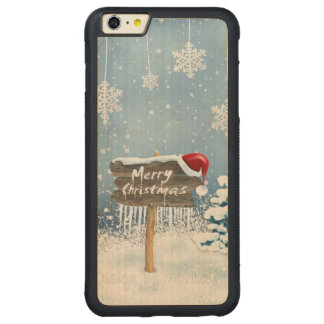 Christmas art - christmas illustrations carved maple iPhone 6 plus bumper case