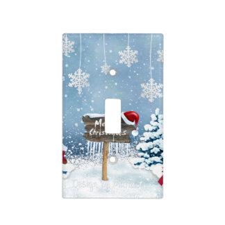 Christmas art - christmas illustrations light switch cover