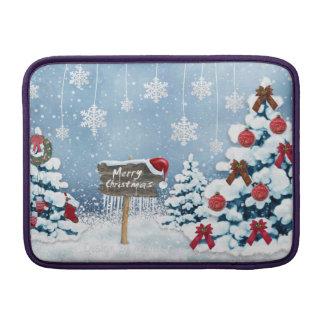 Christmas art - christmas illustrations sleeve for MacBook air