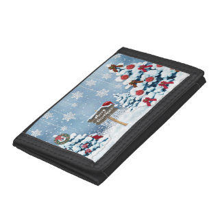 Christmas art - christmas illustrations trifold wallets