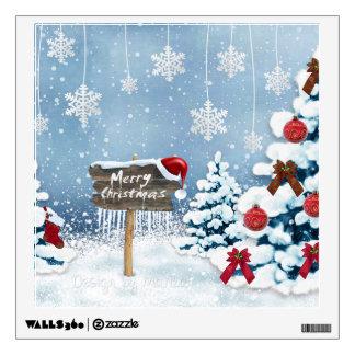 Christmas art - christmas illustrations wall decal