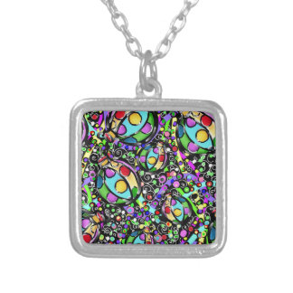 Christmas Art Silver Plated Necklace