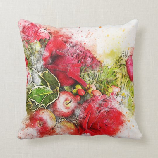 Christmas Art Throw Pillow