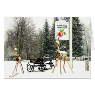 Christmas at Brookdale Fruit Farm in Hollis, NH Card