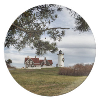 Christmas at Nobska Lighthouse Cape Cod Gifts Dinner Plates