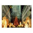 Christmas at Rockefeller Centre Postcard