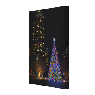 Christmas At Warren Park Night Canvas Print