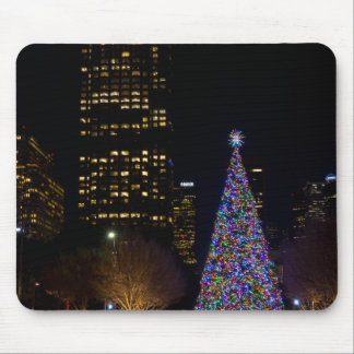 Christmas At Warren Park Night Mouse Pad