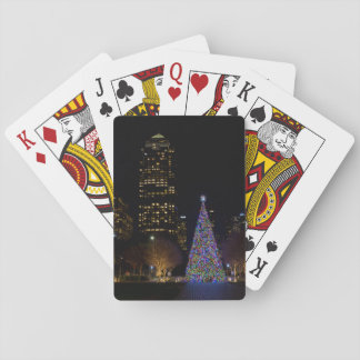 Christmas At Warren Park Night Playing Cards