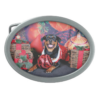 Christmas - Athena - Rottweiler Belt Buckle