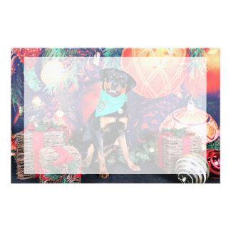Christmas - Athena - Rottweiler Personalized Stationery