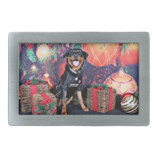 Christmas - Athena - Rottweiler Rectangular Belt Buckles
