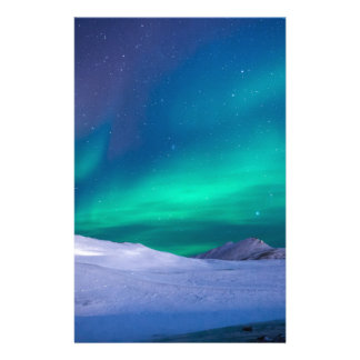 Christmas aurora sky stationery