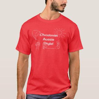 Christmas Aussie Style! white image T-Shirt