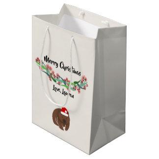 Christmas Australian Animals Design Medium Gift Bag