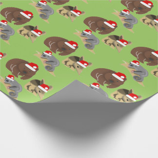 Christmas Australian Baby Animals Wrapping Paper