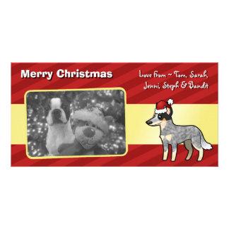 Christmas Australian Cattle Dog / Kelpie Customized Photo Card