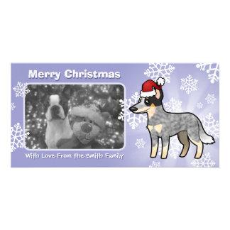Christmas Australian Cattle Dog / Kelpie Picture Card