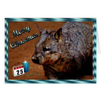 CHRISTMAS AUSTRALIAN WOMBAT Xmas animal Card