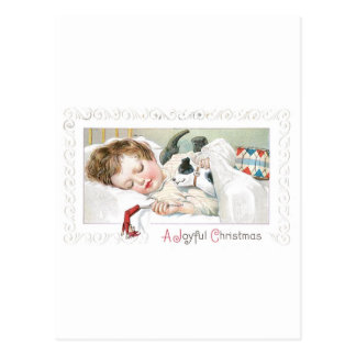 Christmas Baby and Dog Postcard