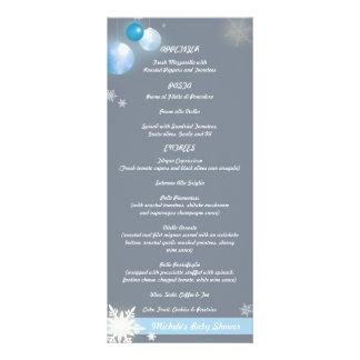 baby shower menu rack card templates baby shower menu rackcard