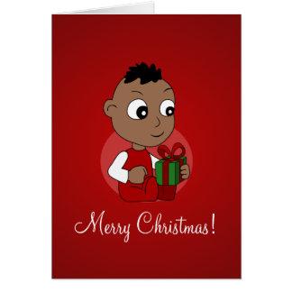Christmas baby cartoon card