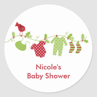 Christmas Baby Laundry Line Stickers