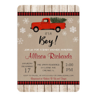 Christmas baby shower invitation, holiday shower card