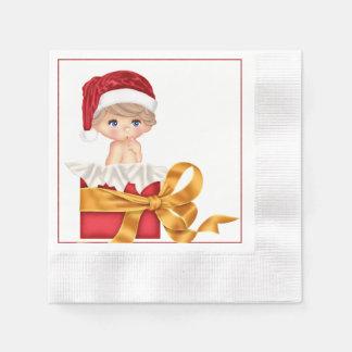 Christmas Baby Shower Napkin