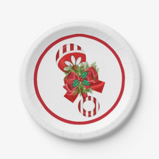 Christmas Baby Shower Rattle Paper Plate
