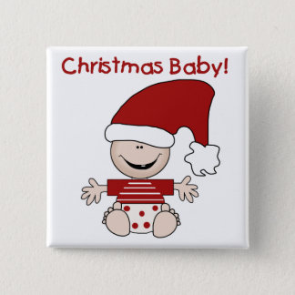 Christmas Baby T-shirts and Gifts 2 Inch Square Button