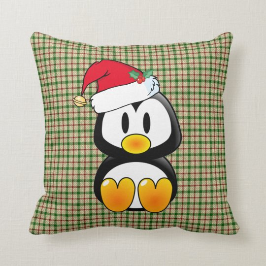 Christmas Baby Tux With Santa Hat Pillow