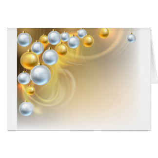 Christmas Background Baubles Card