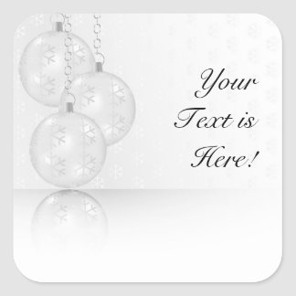 Christmas Background Square Sticker